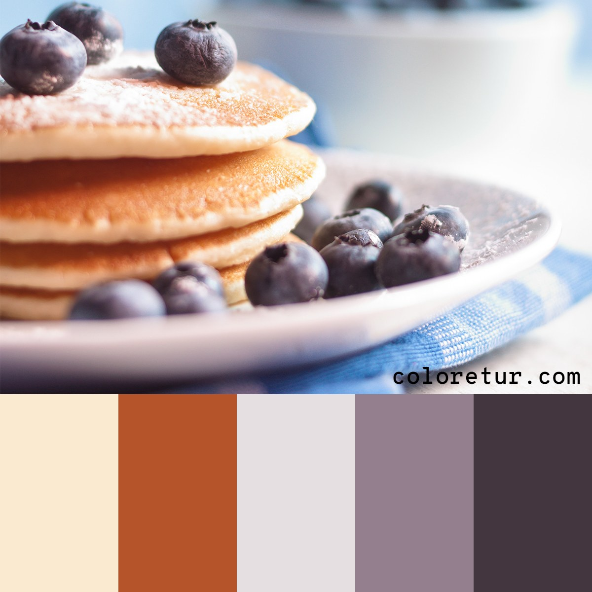 A luxurious palette made from decadent blueberry pancakes