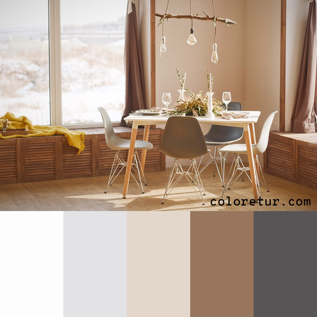 Bright, warm palette for a rustic feel