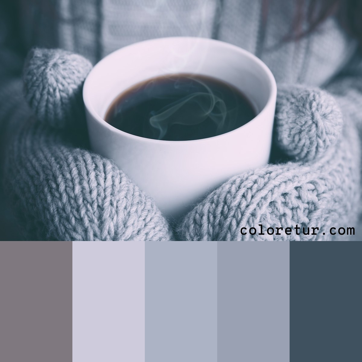 A warm, neutral palette to evoke the feeling of winter drinks.