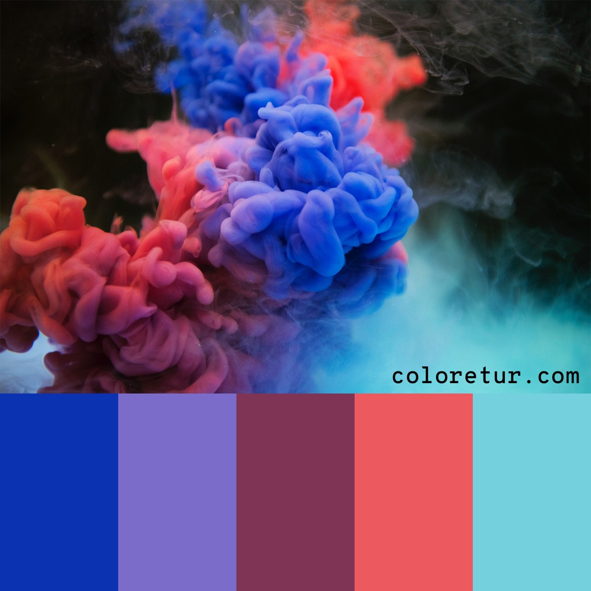 Vibrant colours fill the smokey chalk clouds